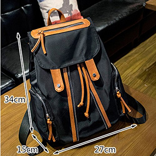 SaiDeng Drawstring Sac Daypack Sac À Dos Avec Backside Anti-Theft Poche Orange