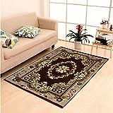 """Home Elite Ethnic Velvet Touch Abstract Chenille Thin Carpet/mat/Dari- 55""""x80"""", Multicolour"""