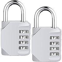 ISIYINER Sicherheitscode-Schlösser mit 4-stelligen Zahlenkombinationen für Sportkoffer, Werkzeugkasten, Schrank…