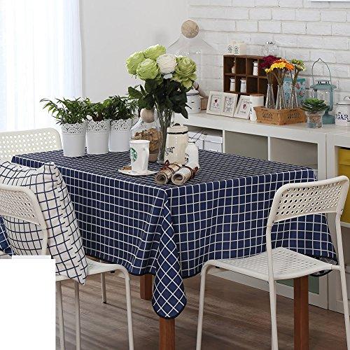 TRE High-End-minimalistischen Tischdecke/Tischdecke decke/ blau-weiß karierten Tischdecke-A 70x70cm(28x28inch) (Blau Und Weiß Karierten Kunststoff-tischdecke)