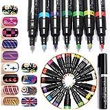 Juego de 12colores nail art pen para Nail Art DIY 3d decoración de uñas bolígrafo Kit