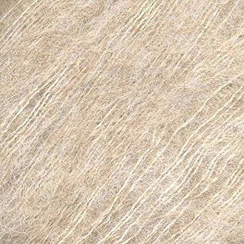 Katia Silk Alpaga Beige clair Couleur # 61dk Aiguilles 4–4,5mm 25g boules de 150m 74% Laine d'Alpaga–26% soie