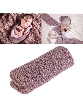 FENICAL Lange Wellen Wrap, DIY neugeborenes Baby Fotografie Wrap-Babyfoto Requisiten Gefälligkeiten (lila)