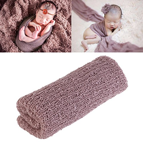 FENICAL Lange Wellen Wrap, DIY neugeborenes Baby Fotografie Wrap-Babyfoto Requisiten Gefälligkeiten (lila) (Jungen Für Gefälligkeiten Baby)