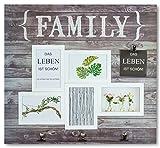 levandeo Bilderrahmen Collage Holz Family 6 Fotos 53x38,5cm Hellbraun Fotorahmen