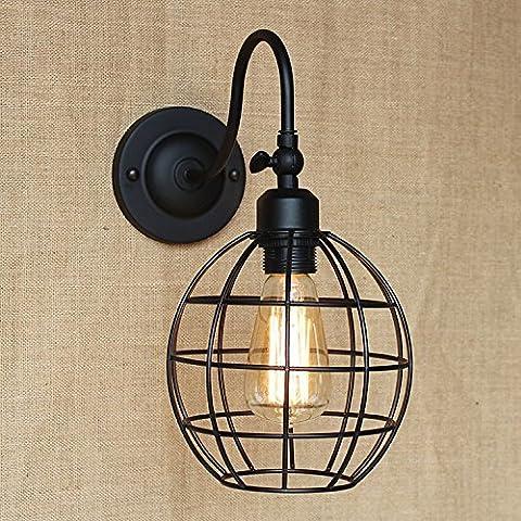 ZQ@QX Parete decorativa tradizionale semplice hotel café ristorante lampada da parete Moda creativa camera sferica Applique in ferro