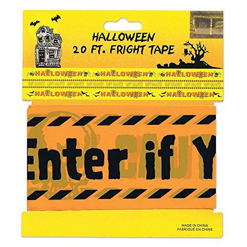 6Warnung Klebeband Streich, Set, gelb/schwarz, One Size (Halloween Party Ideen Streiche)