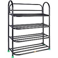 Universal Foldable Metal Book Shelf,Book Stand with 4 Racks