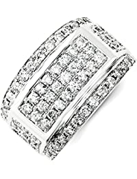 ICE CARATS 14k White Gold Diamond Mens Wedding Ring Band Man Bridal Fine Jewelry Dad Mens Gift Set
