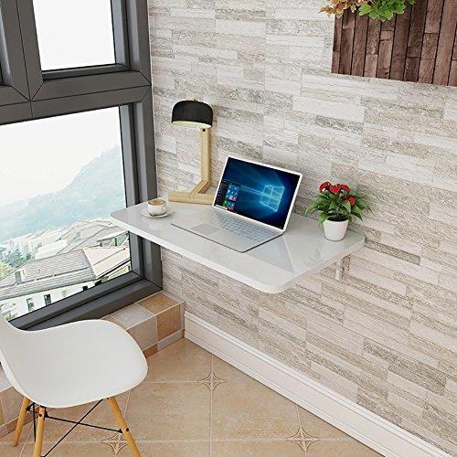 ZCJB Wand-Klapptisch Wand Tisch Esstisch Computertisch Studie Schreibtisch Weiß, Multi-Size Optional (größe : 60*40cm)
