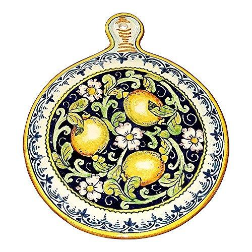 CERAMICHE D'ARTE PARRINI- Ceramica italiana artistica , sottopentola decorazione limoni