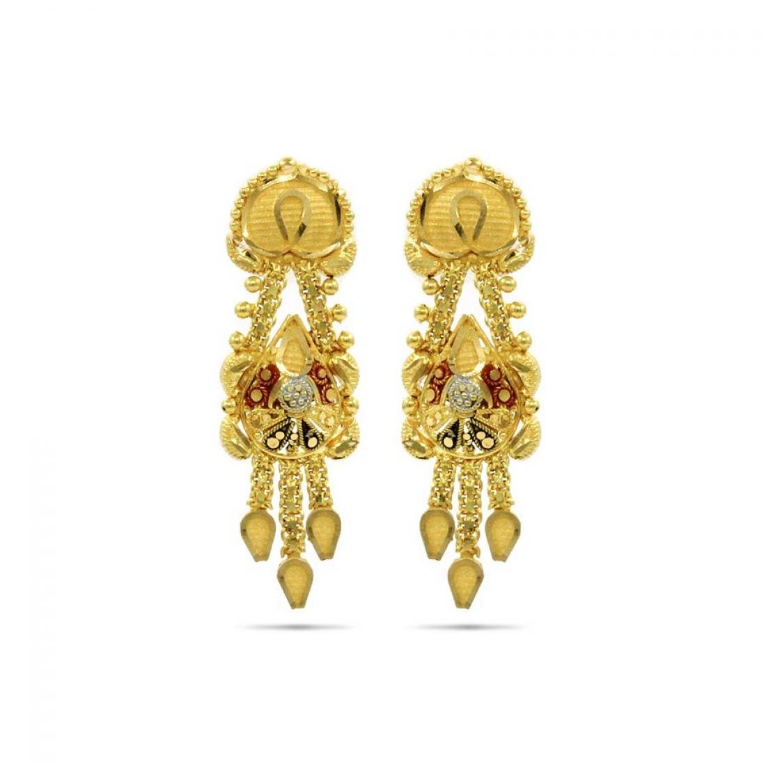6a5ce7be4 Candere By Kalyan Jewellers 22k (916) Yellow Gold Jhumki Earrings for Women  - Gia Designer