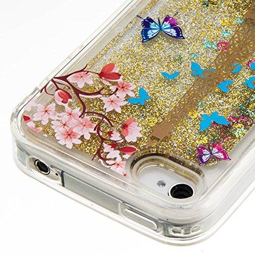 Für iPhone 4/4S Durchsichtige Hülle,Für iPhone 4/4S Crystal Clear Flüssig Hülle Schutz Handy Case Hülle,Funyye Nette Kreative Komisch 3D Flüssigkeit Schutzhülle Bunten Muster Transparent Handytasche G Goldener Eiffelturm