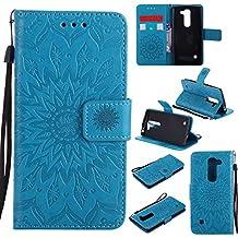 Anlike LG Spirit 4G LTE H440 H420 C70 (4,7 Zoll) Brieftasche Schutzhülle,  Sonnenblume Prägung PU Leder Flip Hülle Wallet Case Tasche Cover  Handytasche ...