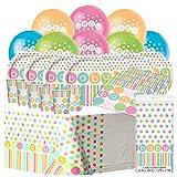 Babyparty-Party-Set Babydusche komplett für 16 Gäste