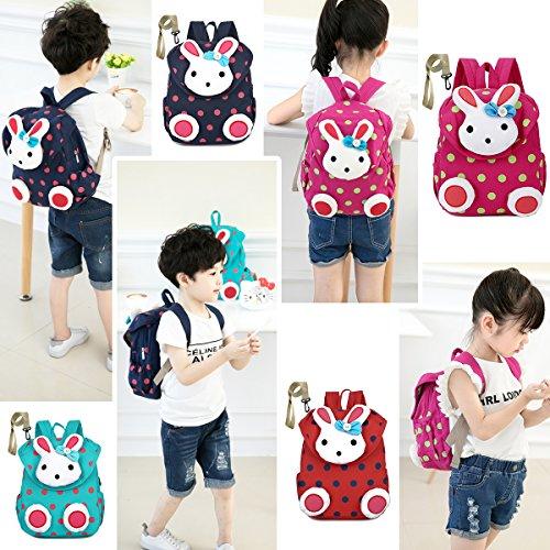Imagen de  infantil bebe niña guarderia saco para bebes conejo animales preescolar bambino algodón azul alternativa