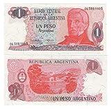 Banknoten der Welt Bank of Argentina 1 Peso Argentino Banknoten Crisp UNC / 1983 / Original Papiergeld