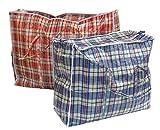 2 Stück Aufbewahrungstasche Einkauftasche Jumbo Tasche Farblich Sortiert Gross