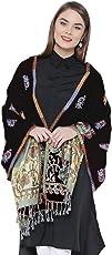 Weavers Villa Soft Viscose Kaju Buty Design Stoles, Shawls, Wraps