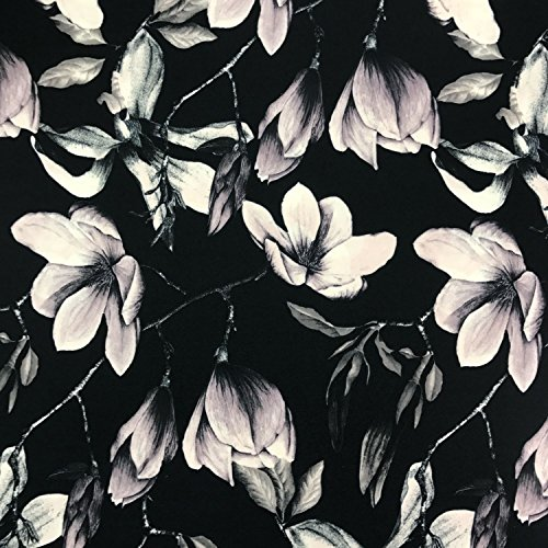 Silhouette di qualità premium floreale stampato jersey stretch SCUBA Dress tessuto larga 149,9cm-venduto al metro