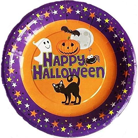 10 piatti di carta per feste, motivo: Happy Halloween 17,78 cm (7