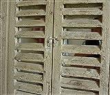Hoher Wandspiegel im Antik-Stil mit Fensterladen für Hoher Wandspiegel im Antik-Stil mit Fensterladen