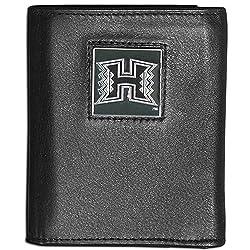 NCAA Hawaii Rainbow Warriors Leather Tri-Fold Wallet