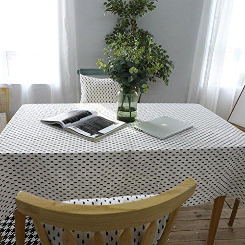 JIAAE Moderne Simple Noir Petite Nappe de cèdre de la littérature et des nappes d'art Maison Coton et Drap de Couverture Serviette, 60 * 60cm