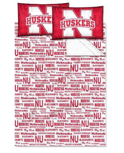The Northwest Company NCAA Bettlaken-Set, offizielles Lizenzprodukt, scharlachrot, Full Size - Full-size-tröster-sets