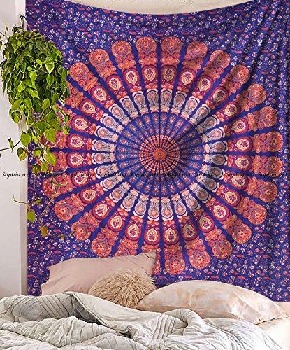 Mandala Tapisserie, Indische Hippie Hippy Wand aufhängen, Bohemian Queen Wand aufhängen, Tagesdecke Strand ()