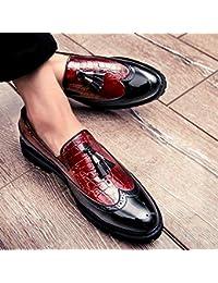 52b18dca92083 LOVDRAM Zapatos De Hombre Primavera Moda Color A Juego Zapatos De Cuero  Brillante para Hombres Zapatos Casuales Zapatos De Cuero…