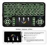 Clavier sans Fil avec Pavé Tactile et Multi-touches Pour Smart TV, mini PC, TV Box, Ordinateur,Projecteur avec LED (Rétro-éclairage 7 luminosités)