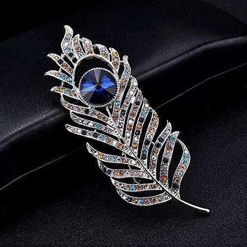 ck Feather Brosche Broschen Brosche gemischt Diamant (Peacock Tanz Kostüme)