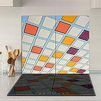 Cubiertas Tabla de cortar guardabarros 2x 30x 52| imagen sobre cristal, vidrio de seguridad Vidrio templado de cortar | Diseño: Abstraktion