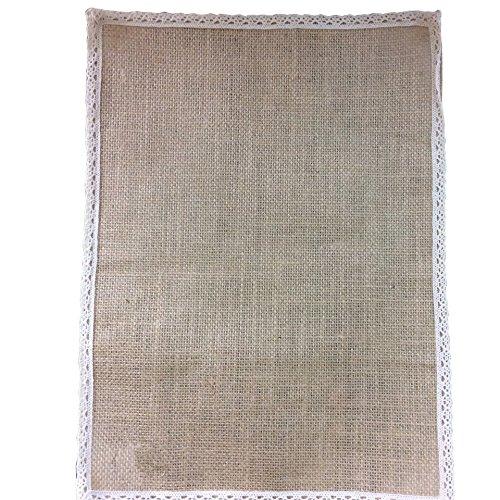 tze placemats hessische Tischdecke 30x40 Hochzeitsgesellschaft Dekor (2 Packungen) leinwand (Hausgemachte Halloween-tischdecken)