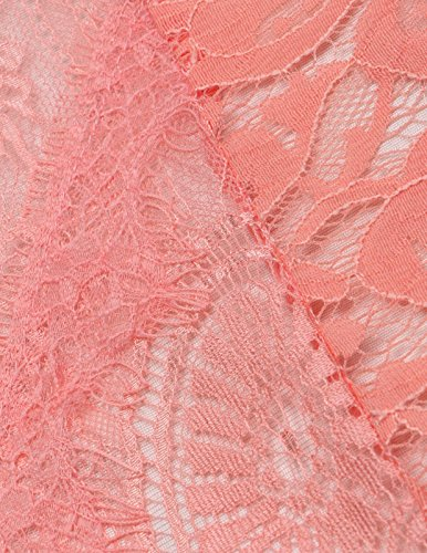 Meilun Les Sangles Lace Bodycon Midi Robe De Cocktail. Rose