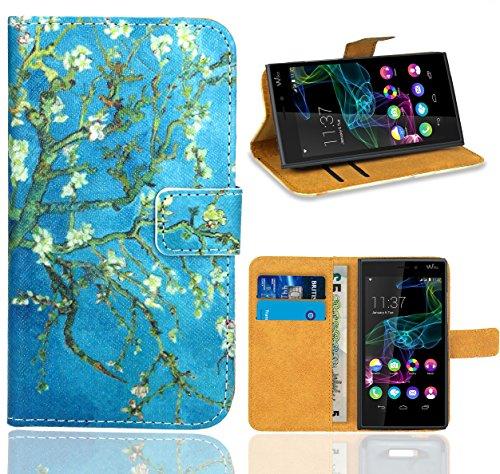 Wiko Ridge 4G Handy Tasche, FoneExpert Wallet Case Flip Cover Hüllen Etui Ledertasche Lederhülle Premium Schutzhülle für Wiko Ridge 4G