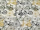 Aufdruck aus Fahrrädern aus Baumwolle und Leinstoff,