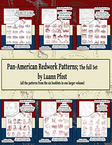 Pan-American Redwork Patterns ; the full set: all the patterns from the six booklets in one larger volume -
