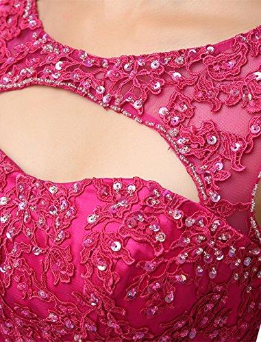 Dressystar Robe femme, Robe de bal/soirée courte Sans manches,appliques, à paillettes en Tulle Noir