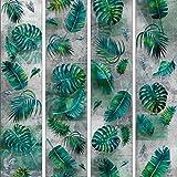 murando - PURO TAPETE - Realistische Tapete ohne Rapport und Versatz 10m Vlies Tapetenrolle Wandtapete modern design Fototapete - Beton grau Blätter Monstera b-A-0376-j-a