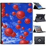Es regnet Cricketbälle Case Cover / Folio aus Kunstleder für das Apple iPad 2, 3 & 4