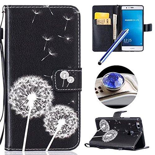 Etsue Custodia Huawei P9 Lite in Pelle Con Cinghia,Huawei P9
