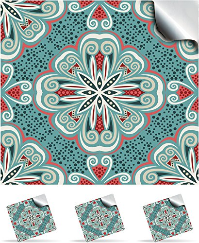30 Turkish Mint - Self Adhesive Mosaic Wall Tile Decals For 150mm (6 inch) Square Tiles -(TP 80)- Realistic Looking Stick On Wall Tile Transfers Directly From the Manufacturer: TILE STYLE DECALS, No Middleman -- Peel and Stick on Tile to Transform your Ki