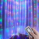 Anpro Catena Luminosa Stringa Luci - USB 320 LED Stringa di luce multicolore, Modalità 8 di lampeggiamento remoto,Festa di no