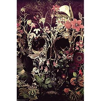 Flower Skull Poster Ali Gülec 61 x 91,5 cm