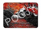 POGJY Gaming Mauspad 7 x 8 Inches, Mousepad, Verbessert Präzision und Geschwindigkeit, Gummiunterseite für Stabilen Halt auf Glatten Oberflächen, Rutschfest, Strapazierfähig Schwarz - Blumenbaum image 801