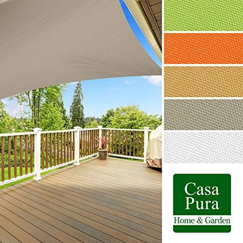 Preisvergleich Produktbild casa pura® Sonnensegel wasserabweisend imprägniert | quadratisch, 3x3m | UV Schutz | viele Farben (grau)