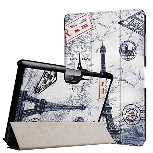 Schutzhülle für Acer Iconia Tab One 10 B3-A30 B3-A32 A3-A40 10.1 Zoll Case Bookstyle Cover Hülle (Eifelturm)