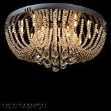 #9: Discount4product Modern Fixture Ceiling Light Lighting Crystal Pendant Chandelier HQ-h3